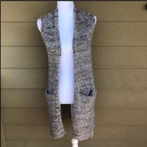 Wilfred Knit Long Open Front Vest Size XS